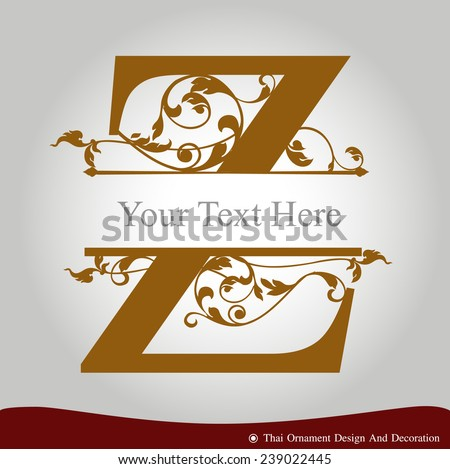 Vector Of Letter Z In The Old Vintage Style ABC Concept Type As Logo