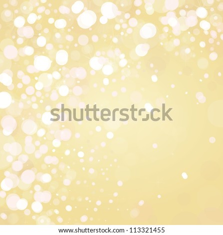 Vector of lights on golden background - stock vector