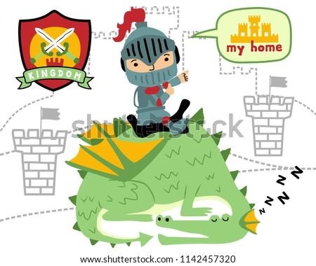 vector of little knight on