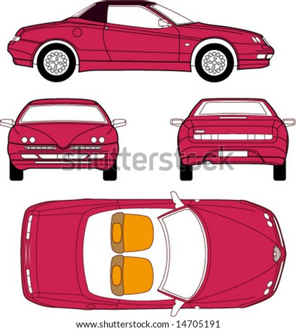 vector of luxury car