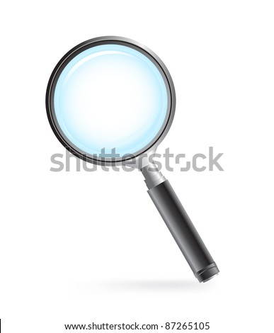 Vector of magnifying glass
