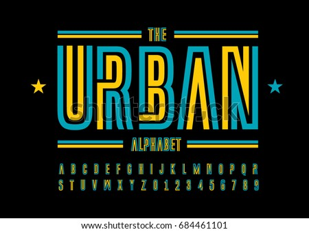 vector of modern abstract font