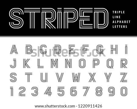 vector of modern alphabet