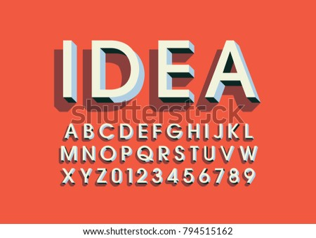 vector of modern bold font and