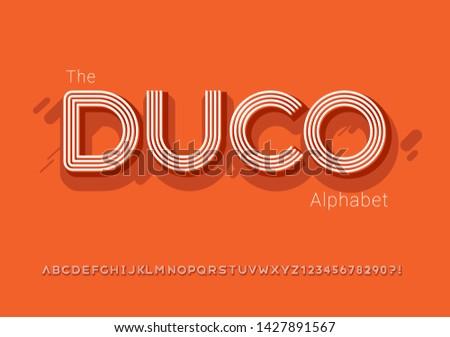 Vector of modern bold font and alphabet - Vector