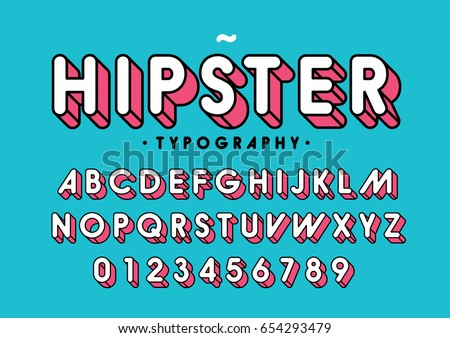 vector of modern colorful font