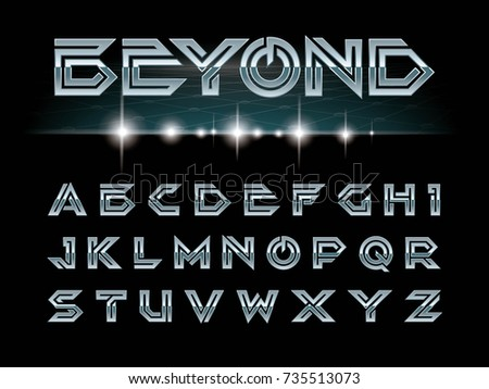 vector of modern font and