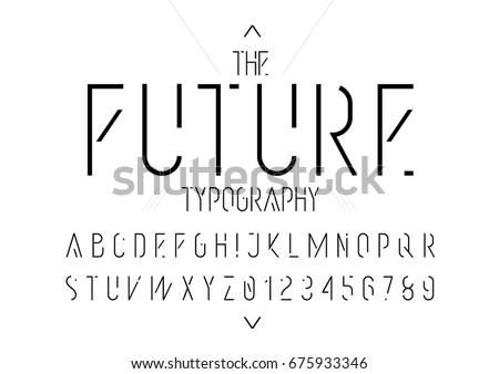 vector of modern futuristic
