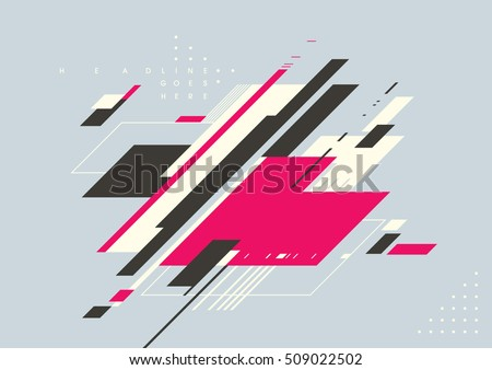 Vector of modern geometrical shape and background
