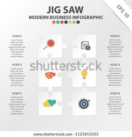 vector of modern jig saw