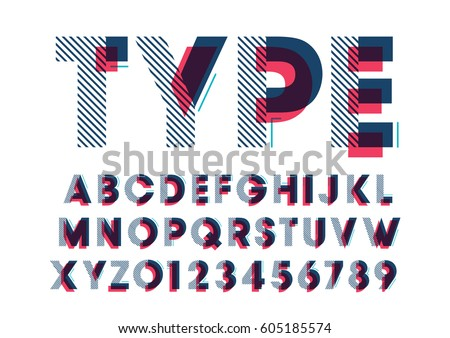 vector of modern stylized font