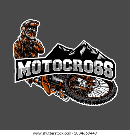 vector of motocross illustration