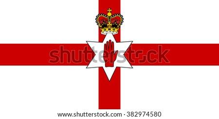 vector of northern ireland flag