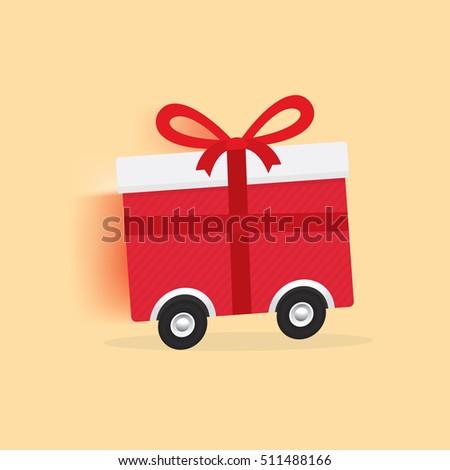 vector of online gift ordering