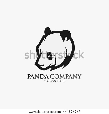 vector of panda head design