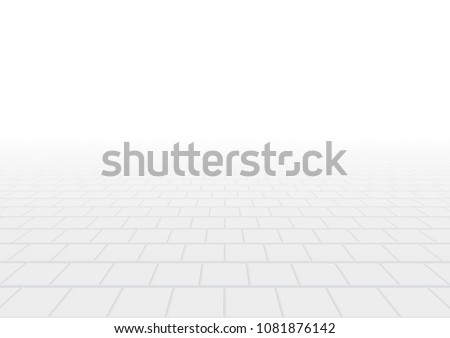 Vector of paver brick floor in perspective view for background.