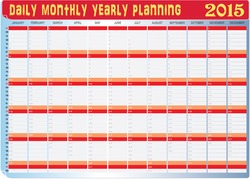 Vector of Planning Chart of All Daily Monthly Year 2015.
