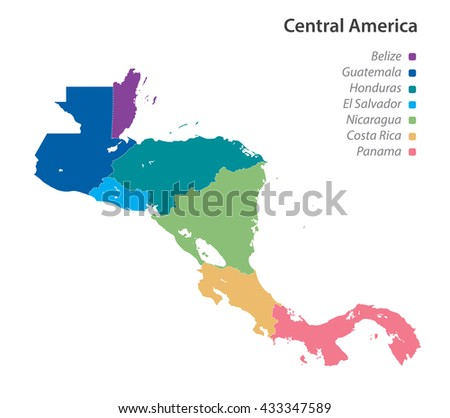 vector of political map of...