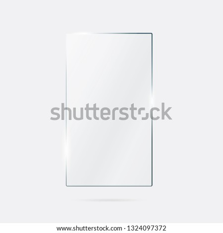 Vector of rectangle glass frame. #1324097372
