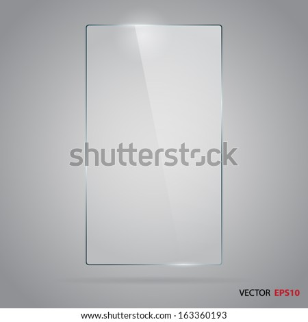 vector of rectangle glass frame