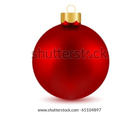 Vector of red Christmas ball