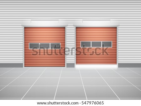 vector of roller shutter door