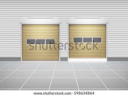 vector of roller shutter door