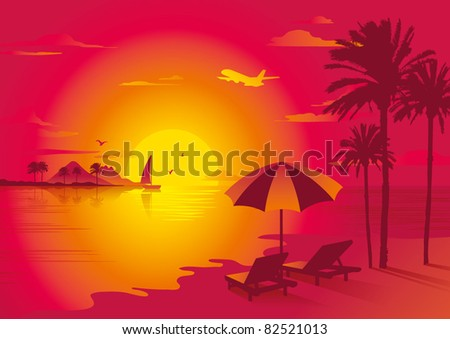 vector of seaside holiday element