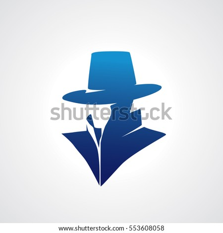 Vector of silhouette detective.