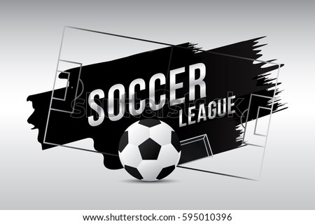 Vector of soccer league with football.