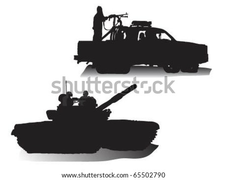 vector of soldiers in a tank