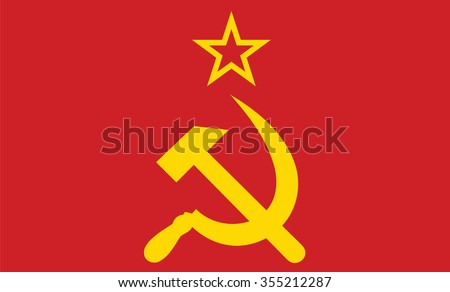 vector of soviet union flag