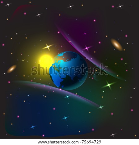 vector of space background