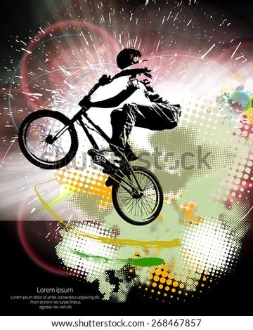 vector of sport bmx trick