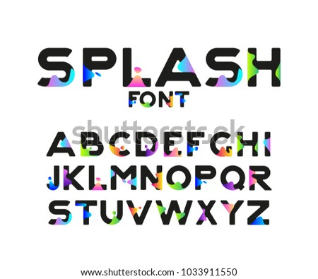 Vector Of Stylish Stylized Font And Alphabet With Gradient