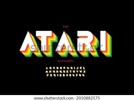 vector of stylized atari