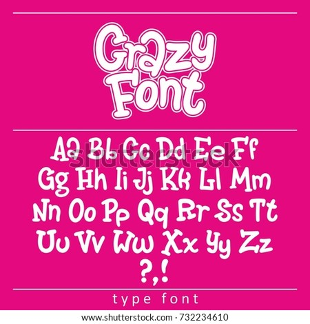 vector of stylized bold and