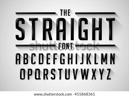 vector of stylized bold font
