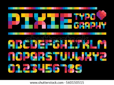 vector of stylized colorful