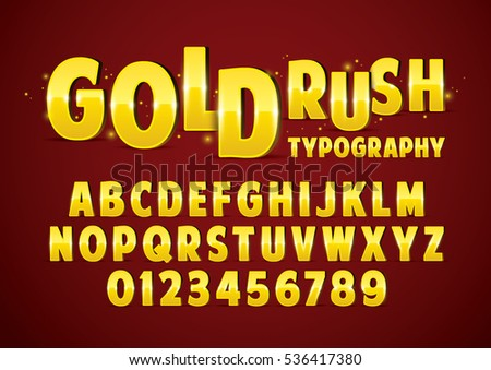 Vector of stylized metallic font and alphabet #536417380