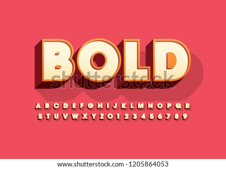Vector of stylized modern font and alphabet #1205864053