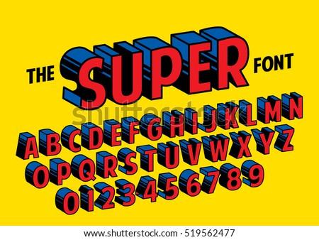 Creative high detail comic font … Stock Photo 300501896