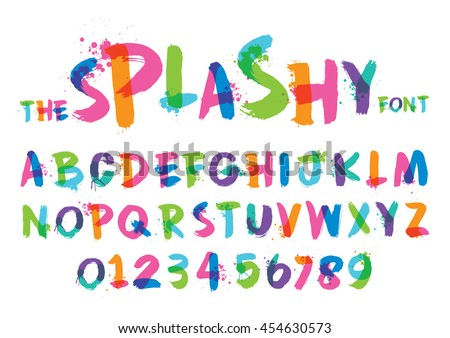 vector of stylized splashy font