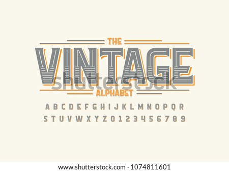 vector of stylized vintage font ...