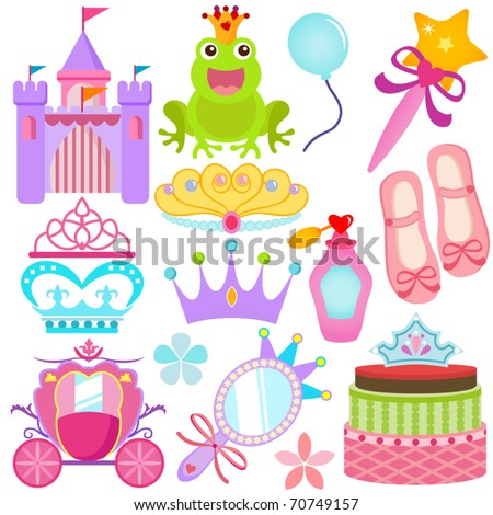 vector of sweet princess theme
