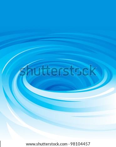 vector of swirling water