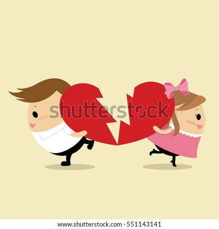 vector of teenage couple