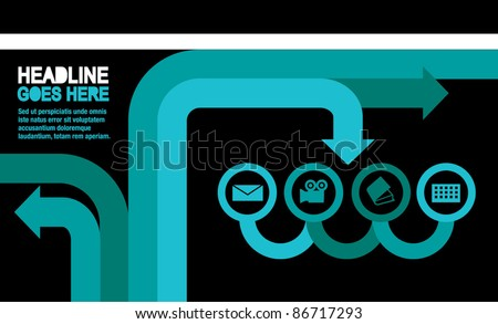 vector of template for icons and info graphics - stock vector