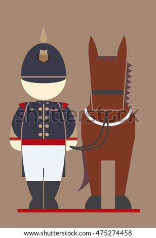 vector of thai cavalry at
