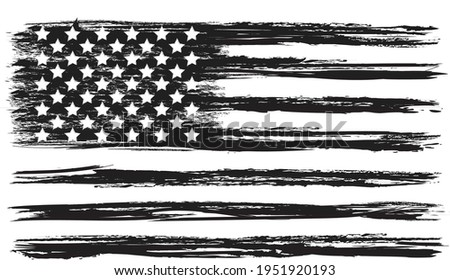 Vector Of The Distressed American Flag  Photo stock ©